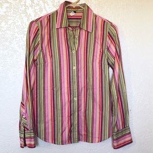 J. Crew striped slim fit button up shirt sz. XS